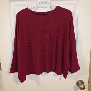 Forever 21 ribbed cropped shirt